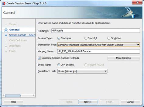 oracle tutorial ejb oracle jdeveloper 12c 12 1 3 tutorials building a web