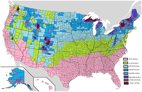 snowfall map fasten your snowbelts technology and the great lakes seeking alpha