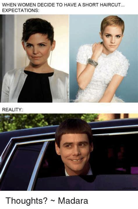 when women decide to have a short haircut expectations
