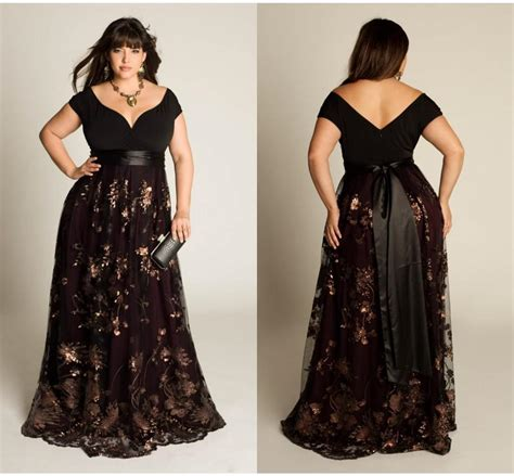 Plus Luxuryuture Prom Gown Capped Short Sleeve