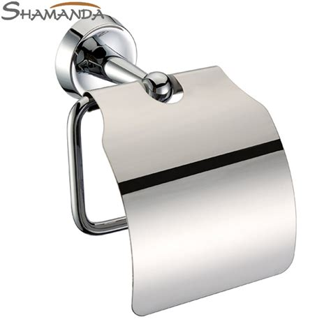 tissue roll holder free shipping bathroom accessories product solid brass chrome toilet paper holder roll holder