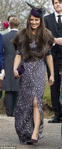Wedding Hair Accessories Aberdeenshire by Pippa Middleton Slips Into A Slinky Dress And Foxy Fur
