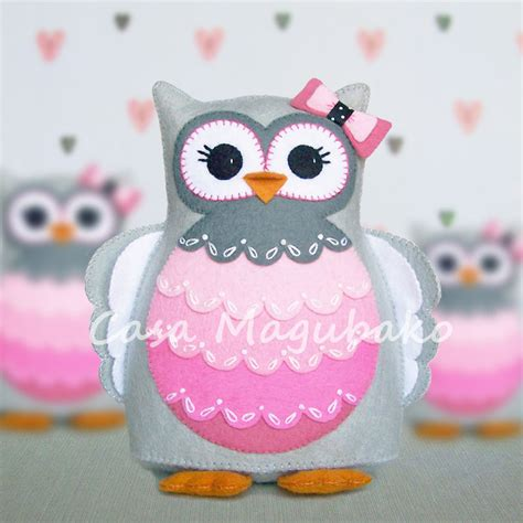owl pincushion template felt owl pincushion digital pattern pdf file owl soft