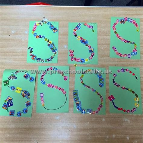 craft projects for kindergarten letter s crafts for kindergarten preschool crafts
