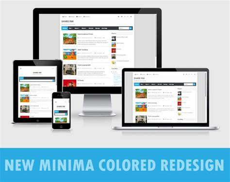 new minima colored blogger template 2015 free themes new minima colored redesign by arlinadesign terbaru 2015