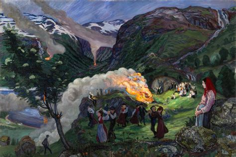 painting norway nikolai astrup painting norway nikolai astrup 1880 1928 exhibition review unique portrayal of an