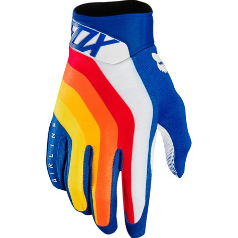Glove Fox 2018 fox racing airline draftr gloves blue sixstar racing