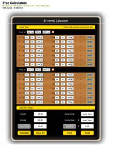 free time card calculator with lunch free time card