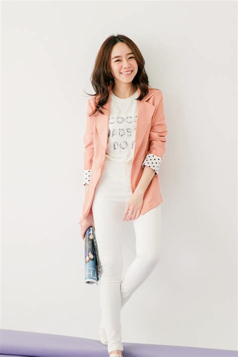 Blazer Fashion Korea tokyo fashion womens blazer with polka dot cuffs japanese korean fashion