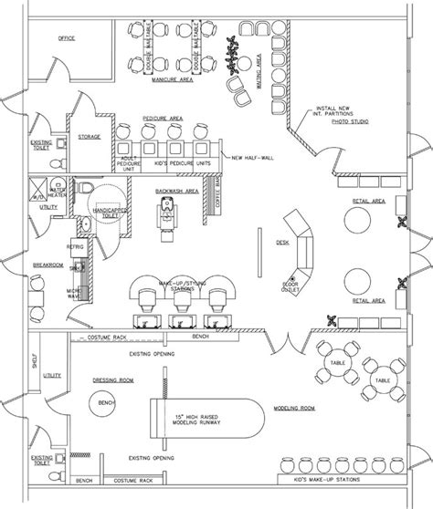 salon and spa floor plans kid s spa floor plan design layout