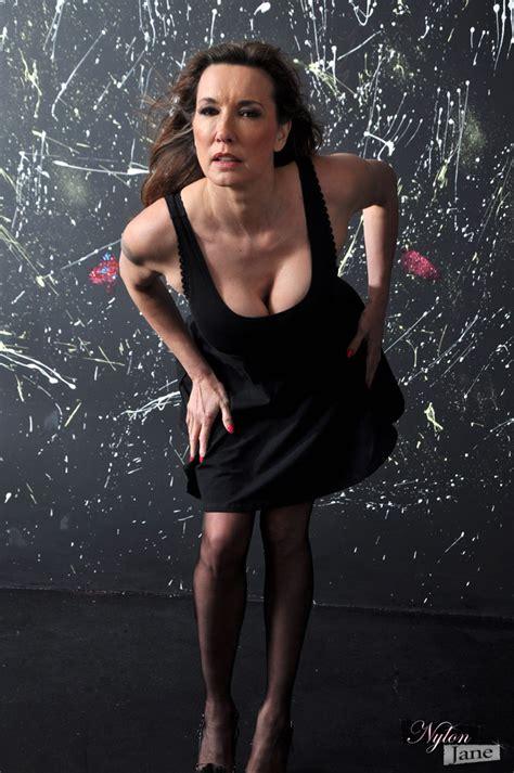 nylon jane nylon jane clad in seamed nylons high heels knickers