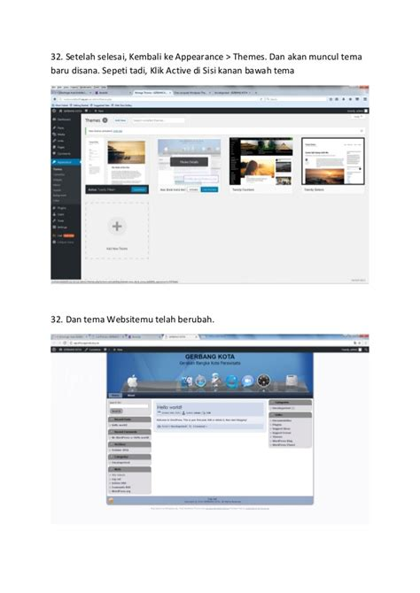 membuat blog wordpress pdf cara membuat website blog belajar wordpress