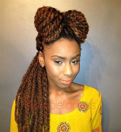pictures of marley twist hairstyles marley twists w bow marley twist styles pinterest