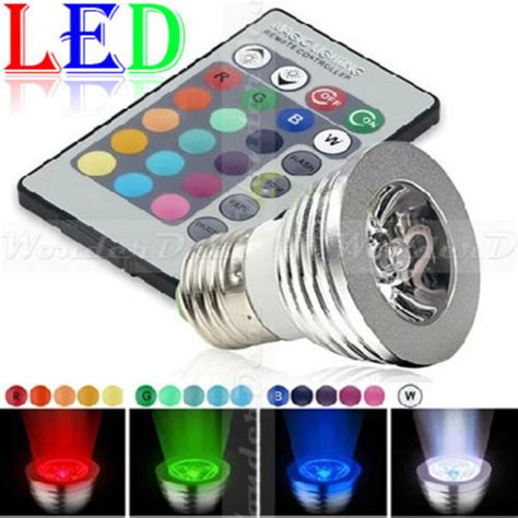 Led Color Changing Light Bulb With Wireless Remote 2010 bulbs led color changing light bulb with wireless remote 12 colours e27 standard