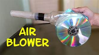 make a home how to make a powerful air blower using cd and bottle