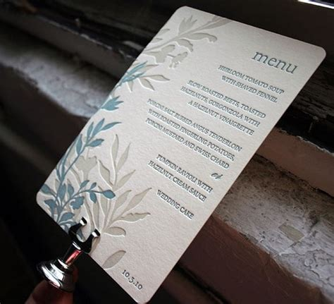 beautiful menu wedding details creative menu ideas