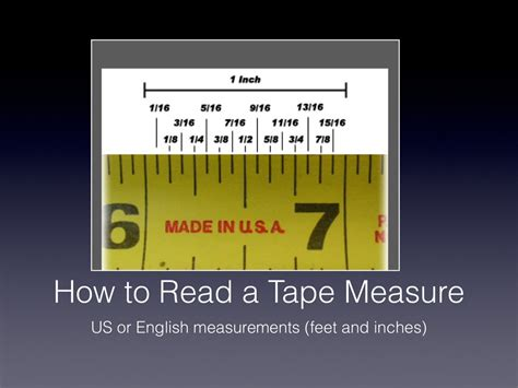 how to read a tape measure math agriculture showme