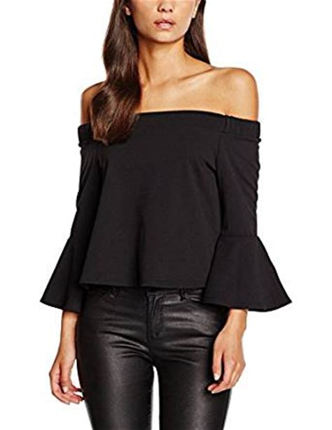 Sleeve Blouse New Look by New Look S Bardot Flare Sleeve Tops Black 16
