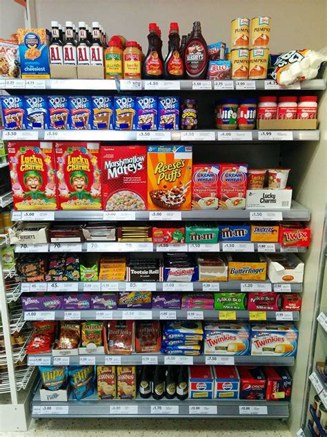 supermarket sections this is what american food looks like according to the