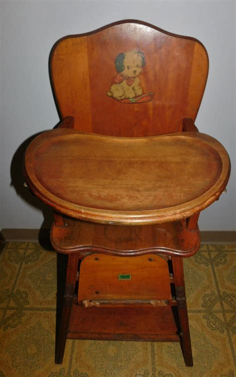 Vintage Convertible High Chair by Antique Solid Wood Convertible High Low Chair Highchair W