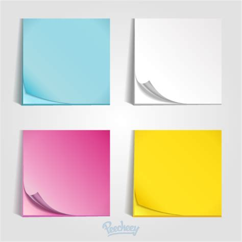 colorful post it templates peecheey