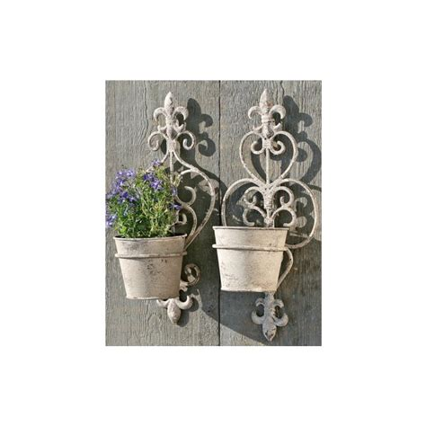 wall plant holders set of 2 wall flower pot holder garden decoration plant ebay