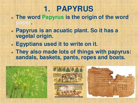 How Do You Make Papyrus Paper - history of paper