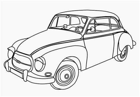 mewarnai gambar mobil kartun klasik bahasapedia bahasapedia