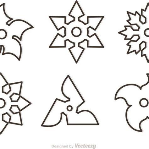 free vector outline ninja star vectors 22357 my graphic