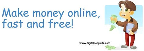 Quickest Way To Make Money Online Free - make money online fast and free digital seo guide