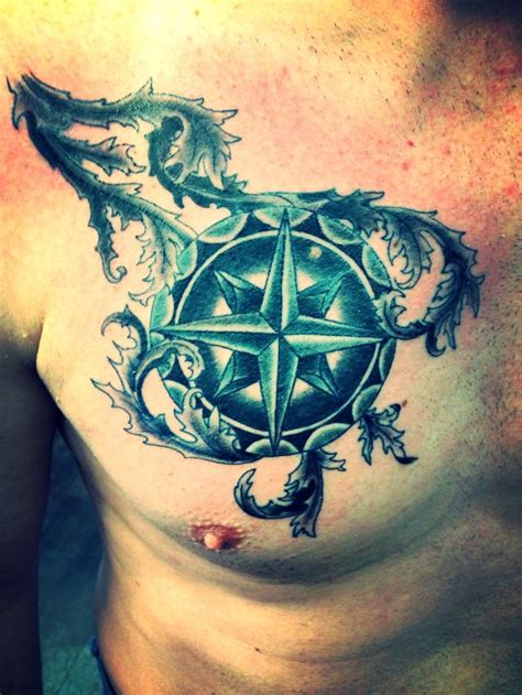 tattoo chest compass pin by derek osborne on tattoos pinterest
