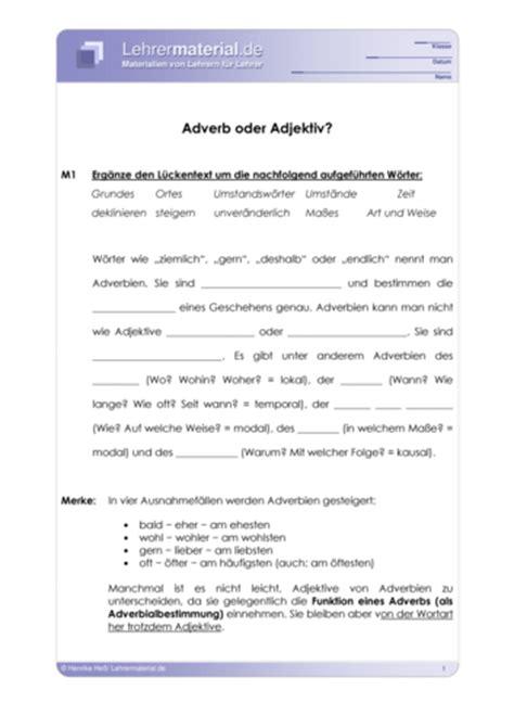 englisch wann adverb wann adjektiv arbeitsblatt adverb oder adjektiv lehrermaterial de
