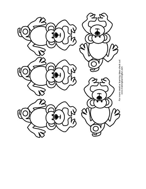 coloring pages monkeys jumping bed five little monkey s templates coloring pages