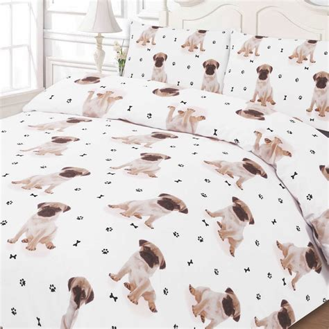pug bedspread pug puppy print duvet cover pillow single