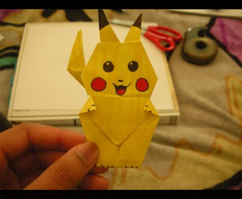 How To Make A Paper Pikachu - origami pikachu by wesroz on deviantart