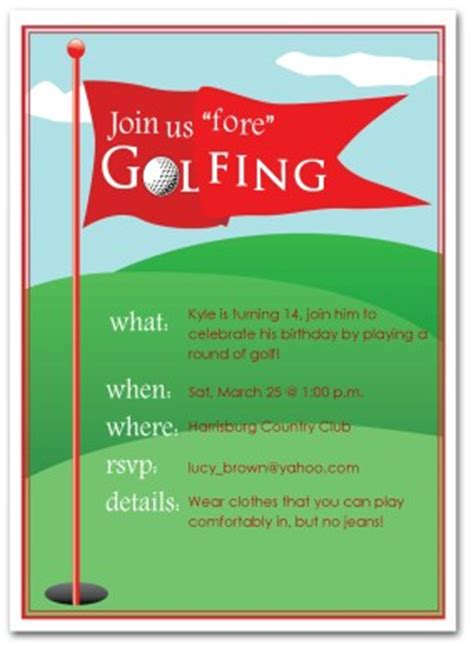 anniversary card golf template printable golfing birthday invitation template