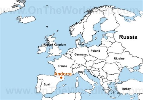 where is andorra on the map travel to andorra map