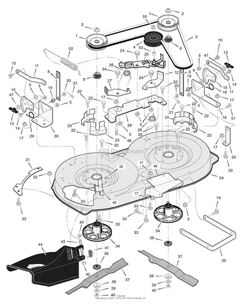 murray parts diagram murray 385044x51a sw lawn tractor 2006 parts diagram