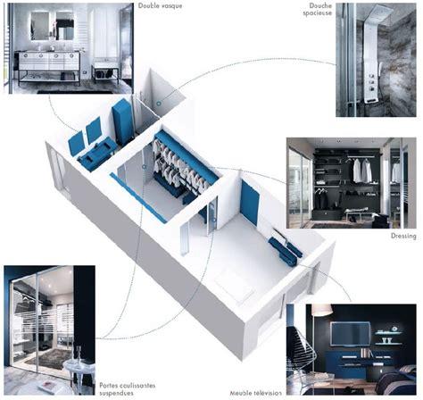 plan chambre parentale avec salle de bain et dressing 5295 plan chambre avec salle de bain et dressing 1 suite