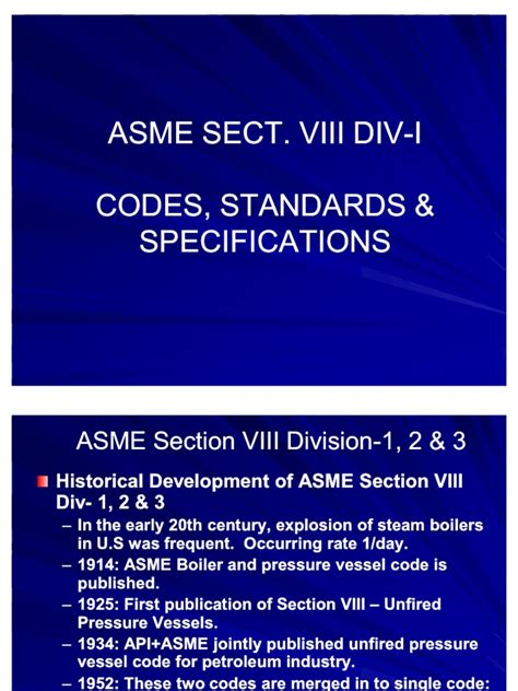 asme section i asme section viii div 1 2 3