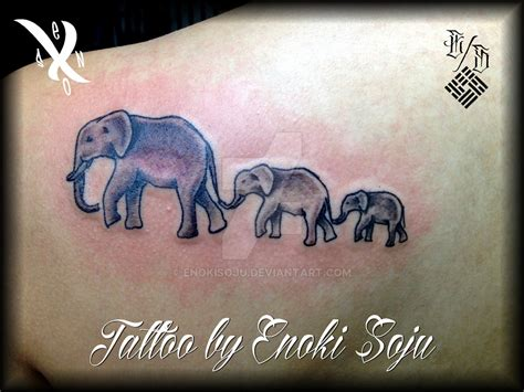 3 elephant tattoo 3 elephants by enoki soju by enokisoju deviantart