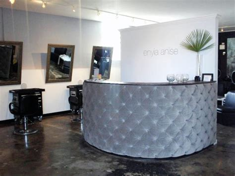 Reception Desk For Hair Salon To Welcome Clients To This Upscale Salon Hines Created A Custom Made Quilted Reception