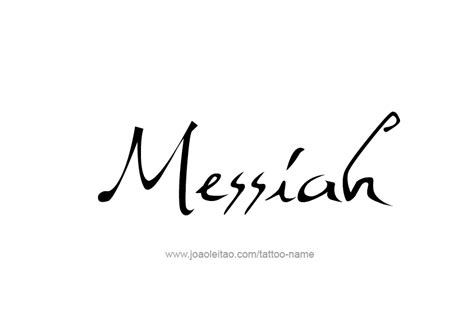 messiah name tattoo designs
