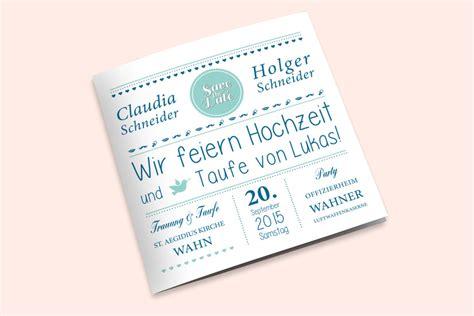 Hochzeit Und Taufe Einladung by Einladungskarten Hochzeit Taufe Vorlagen