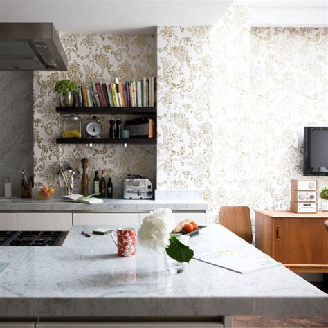 kitchen design wallpaper 6 kitchen wallpaper ideas we love