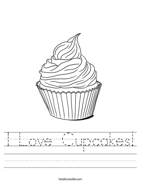 love cupcakes worksheet twisty noodle