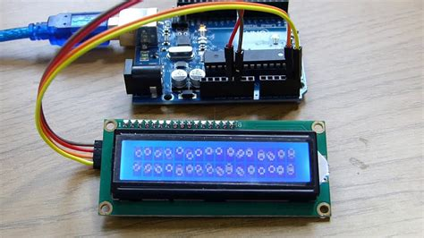 tutorial video arduino how to connect an i2c lcd display to an arduino uno