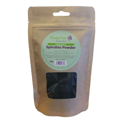 Organic Spirulina Powder organic spirulina powder 125g grape tree