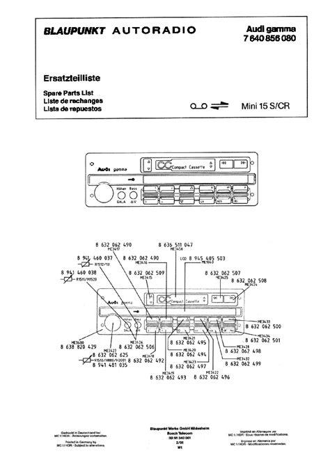Blaupunkt Grundig Car Audio 5300 5600rds Skoda Ms402