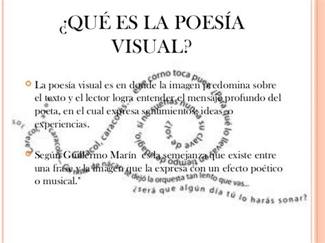 imagenes visuales en un poema poesia visual